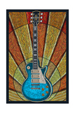 Guitar - Mosaic Posters van  Lantern Press