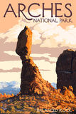 Arches National Park, Utah - Balanced Rock Kunstdrucke von  Lantern Press
