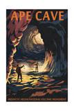 Ape Cave - Mount St. Helens - Sunset View Poster von  Lantern Press