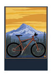 Mountain Bike Scene Poster by  Lantern Press