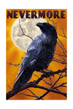 Nevermore - Raven and Moon Premium gicléedruk van  Lantern Press