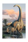 Apatosaurus Dinosaur Lámina giclée prémium por  Lantern Press