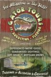 St. Augustine, Florida - Alligator Tours Vintage Sign Poster von  Lantern Press