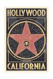 Hollywood, California - Star Prints by  Lantern Press