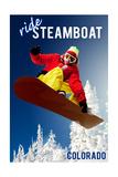 Steamboat, Colorado - Snowboarder Pôsters por  Lantern Press