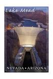 Lake Mead, Nevada - Arizona - Hoover Dam at Night Posters by  Lantern Press