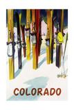 Colorado - Colorful Skis Prints by  Lantern Press
