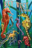 Key West, Florida - Seahorses Kunstdrucke von  Lantern Press
