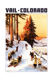 Vail, Colordao - Sledding and Skiing Prints by  Lantern Press