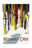 Mountain Creek - Colorful Skis Print by  Lantern Press