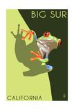 Big Sur, California - Tree Frog Plakater av  Lantern Press