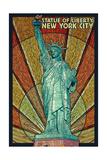 Statue of Liberty Mosaic - New York City, New York Julisteet tekijänä  Lantern Press