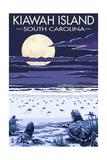 Kiawah Island, South Carolina - Sea Turtles Hatching Poster af  Lantern Press