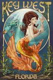 Key West, Florida - Mermaid Affiches par  Lantern Press