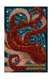 Vashon Island, Washington - Octopus Mosaic Kunst von  Lantern Press