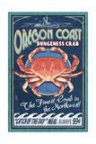 Oregon Coast - Dungeness Crab Vintage Sign Láminas por  Lantern Press