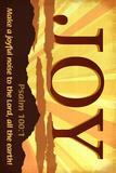 Psalm 100:1 - Inspirational Poster di  Lantern Press