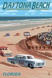 Daytona Beach, FL - Daytona Beach Racing Scene Prints by  Lantern Press