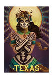 Texas - Day of the Dead Crossbones Posters by  Lantern Press