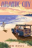 Atlantic City, New Jersey - Woody on the Beach Prints by  Lantern Press