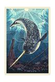 Narwhal Poster von  Lantern Press