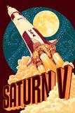 Saturn V Styalized Poster von  Lantern Press