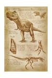 Tyrannosaurus Rex Dinosaur - DiVinci Style Lámina giclée prémium por  Lantern Press