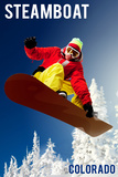 Steamboat, Colorado - Snowboarder Poster by  Lantern Press