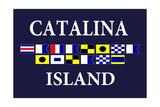 Catalina Island, California - Nautical Flags 2 Print by  Lantern Press