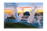 Yellowstone National Park - Norris Geyser Basin Sunset Posters por  Lantern Press