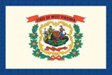 West Virginia State Flag Prints by  Lantern Press