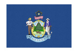 Maine State Flag Art by  Lantern Press