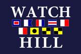 Watch Hill, Rhode Island - Nautical Flags Prints by  Lantern Press