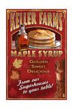 Maple Syrup Farm - Vintage Sign Poster par  Lantern Press