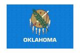 Oklahoma State Flag Poster by  Lantern Press