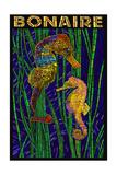 Bonaire, Dutch Caribbean - Seahorse Mosaic Kunstdrucke von  Lantern Press