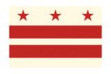 Washington DC Flag Art by  Lantern Press