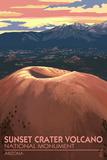 Sunset Crater Volcano National Monument, Arizona Poster por  Lantern Press