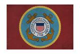 United States Coast Guard - Military - Insignia Premium gicléedruk van  Lantern Press