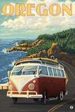 VW Van Cruising the Oregon Posters by  Lantern Press