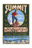 Climber Mountaineering - Vintage Sign Láminas por  Lantern Press