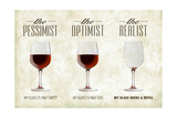 Pessimist Optimist Realist Posters van  Lantern Press