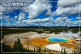 Yellowstone National Park - Grand Prismatic Pool Pôsters por  Lantern Press