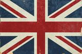 Union Jack - Distressed Plakater af  Lantern Press