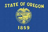 Oregon State Flag Prints by  Lantern Press