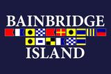 Bainbridge Island, Washington - Nautical Flags Art by  Lantern Press