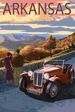 Arkansas - Outlook and Sunset Scene Kunstdrucke von  Lantern Press