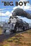 Big Boy Steam Engine 4014 Kunstdruck von  Lantern Press