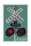 Grand Canyon Railway, Arizona - Railroad Crossing Art by  Lantern Press