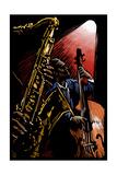 Jazz Band - Scratchboard Plakater af  Lantern Press